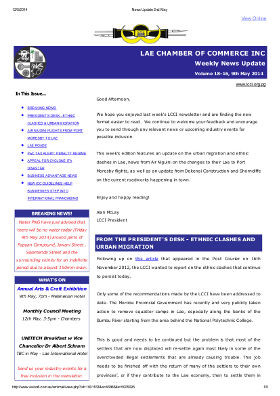 LCCI Newsletters Archive